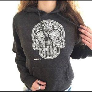 Skull obey hoodie